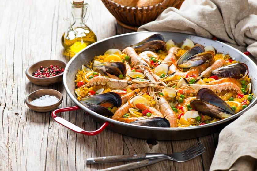 bigstock-Spanish-Seafood-Paella-92556401-839x560